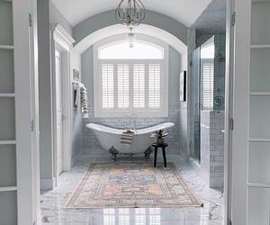 bathroom, Blanc, and brown image