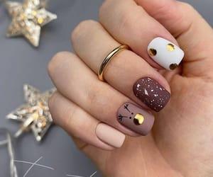 brown, nail polish, and Nude image