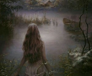 enchanted, painting, and woods image