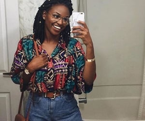 black women, cultural, and denim shorts image