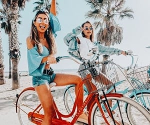 activities, besties, and bicycle image
