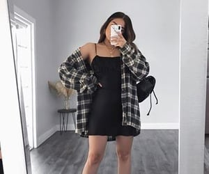 aesthetic, black, and outfits image
