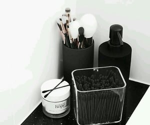 black &white, candles, and decor image