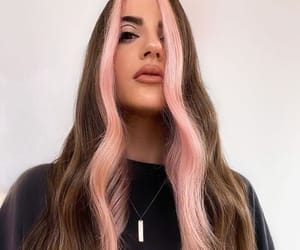dyed hair, pink hair, and pretty girl image