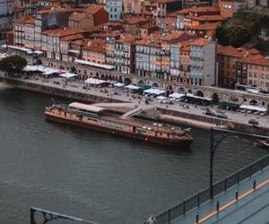 boat, bridge, and oporto image