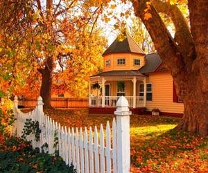 Autumn farm house