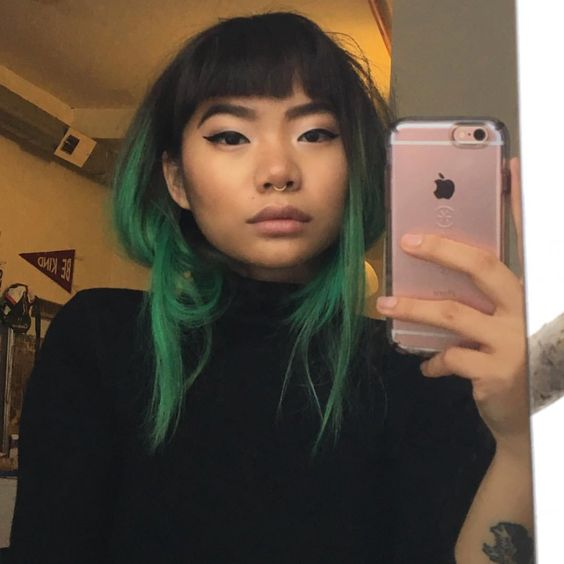 alternative, beauty, and dyed hair image
