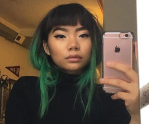 "@minadelphia: ""I think I peaked with bangs and green hair"""