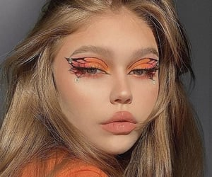 butterfly, makeup, and beauty image