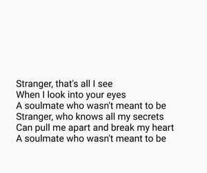 lyric, soulmate, and sad image