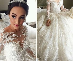 robe de mariée, cheap wedding dresses, and wedding ball gown image