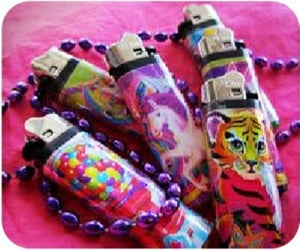 lighters, stickers, and lisafrank image