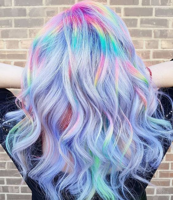 purple hair, colored hair, and colorful hair image