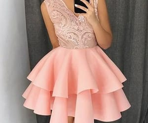 cocktail dresses, homecoming dresses short, and pink prom dress image