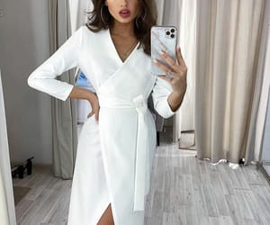 Blanc, dress, and fashion image