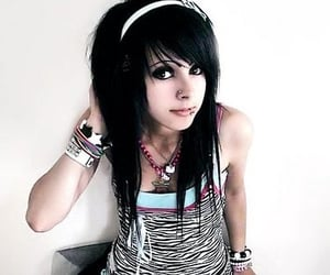 emo, girl, and cute image