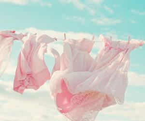 dress, pink, and sky image