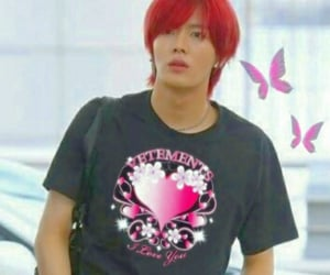 red hair, nct, and yuta image