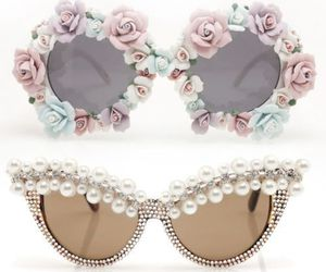 sunglasses, pastel, and pink image