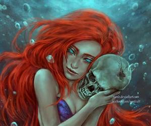 art, mermaid, and little mermaid image