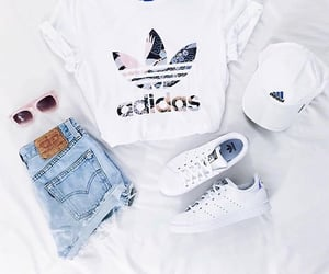 adidas, distressed, and fashion image