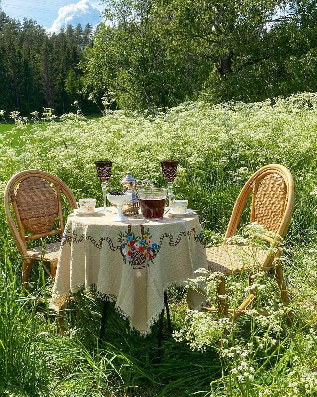 nature and cottagecore image