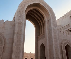 islamic, mosque, and oman image