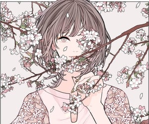 draw, floral, and flowers image