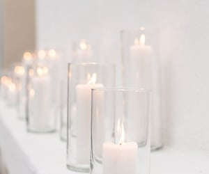 white and candles image