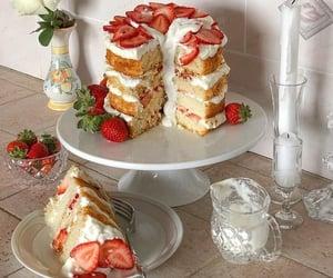 cake, pastel, and food image