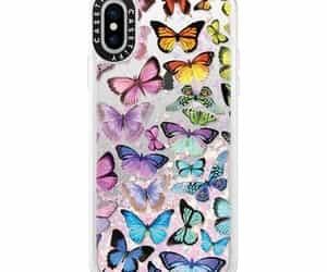 butterflies, case, and glitter image