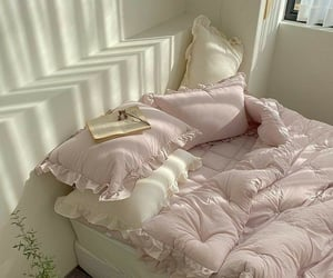 bed, pillows, and bedroom image