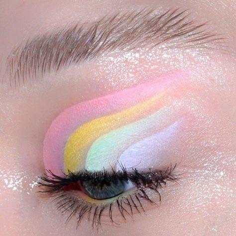 aesthetic, pastel, and eyeshadow image