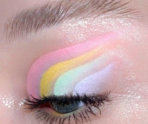 aesthetic, pastel, and eyeshadow image