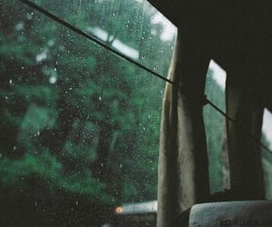 rain, bus, and travel image