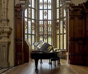 piano, architecture, and castle image