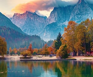 fall, mountain, and nature image