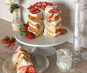angel cake, cupcake, and cake image
