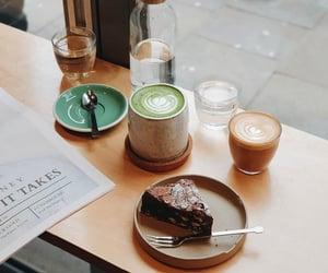 cake, dessert, and coffee image
