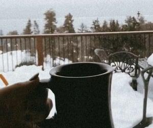 christmas, coffee, and snow image