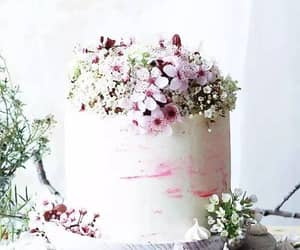 cake, floral, and flower image
