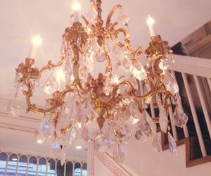 crystal, princess, and chandelier image