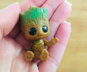 cute, baby groot, and key chain image