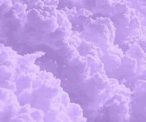 lila, nubes, and purple image