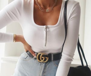 bag, belt, and outfit image