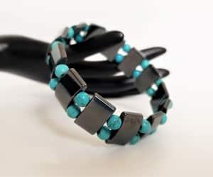 etsy, hematite bracelet, and stretchy bracelet image
