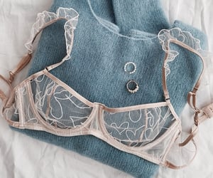 fashion, blue, and bra image