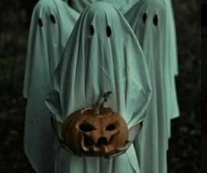 Halloween, ghost, and pumpkin image