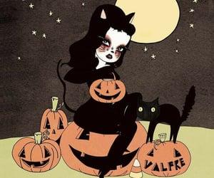 Halloween, art, and moon image