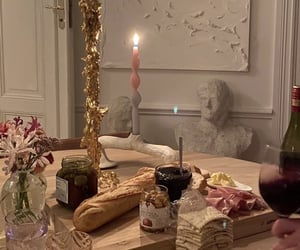 adorable, baguette, and candles image